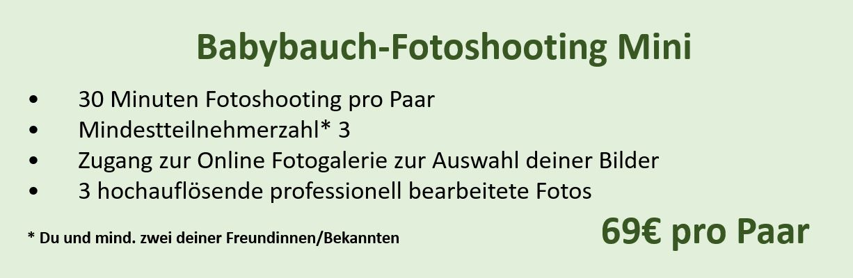 Babybauch Shooting Mini